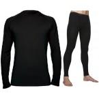 Luigi di Bartolomeo® Australisches Merino Thermo-Set  (Farbe: Schwarz), bestehend aus Pullover und Langer Unterhose